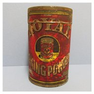 Royal Baking Powder 1 pound size Advertising Tin