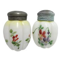 Antique Salt and Pepper Set American Glass Shakers Gillinder & Sons