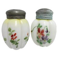 Salt and Pepper Set American Glass Shakers Gillinder & Sons