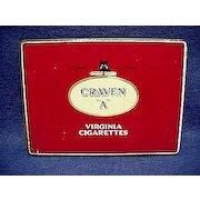 Craven A Virginia Cigarette Pocket Advertising Tobacco Tin