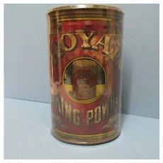 Royal Baking Powder Tin Embossed  Lid
