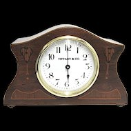 Antique Inlaid French Mantel Clock Runs and Keeps Time
