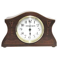 Antique Mantel Clock Inlaid French Mantle Clock Runs and Keeps Time