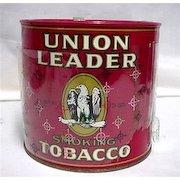 Union Leader Advertising Tobacco Tin