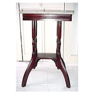Stand Marble Top  American Victorian  Antique Table