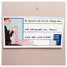 Ivory Soap Advertising Sign for Trolley or Bus