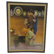 Maxfield Parrish Print Checking The Tarts