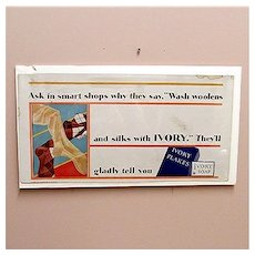 Advertising Sign Ivory Flakes Lithograph Soap Sign Original