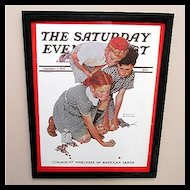 The Marble Champ 1939 Framed Saturday Evening Post Cover 50% OFF