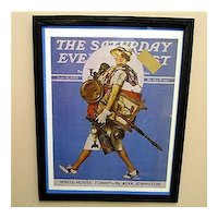 Advertising Print For Norman Rockwell Framed Print Cover Saturday Evening Post Cover Titled Off To The Auction 1937