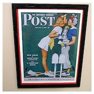 The Girls Back Home 1942 Framed Saturday Evening Post Cover 50% OFF