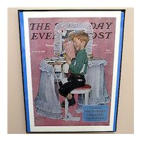 Advertising Print For Norman Rockwell Saturday Evening Post Cover Framed Print Titled Devil May Care 1942