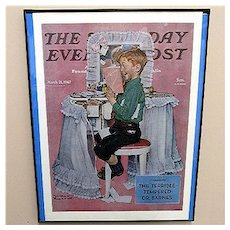 Devil May Care 1942 Framed Saturday Evening Post Cover 50% Off