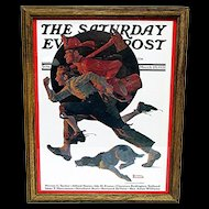 Off  to the Fire March 28, 1931 Saturday Evening Post Cover by Norman Rockwell 50% Off
