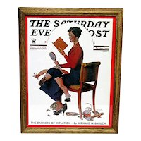 Advertising Print For Norman Rockwell Saturday Evening Post Cover Titled Child Psychology November 25, 1933