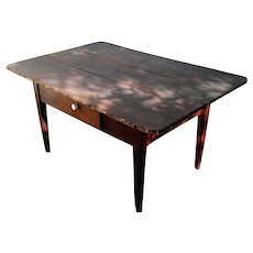 American Peg Top Table Circa 1850