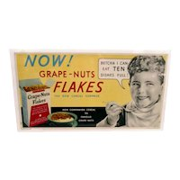 Advertising Sign Grape Nuts Flakes Cereal  Lithograph Sign