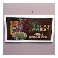 Advertising Sign For Heinz Breakfast Cereal Lithograph Trolley Car Sign