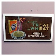 Heinz Cereal Lithograph Advertising Trolley Sign REDUCED
