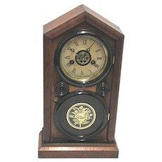 Ingraham Mantle Clock Bristol Conn. Doric Model