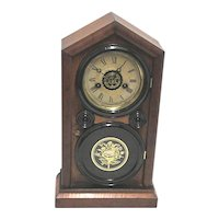 Antique Mantel Clock American Ingraham Mantle Clock Bristol Conn. Doric Model