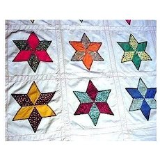 Quilt Cover Six Point Star Pattern