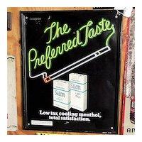 Advertising Tobacco Sign for Salem Cigarettes
