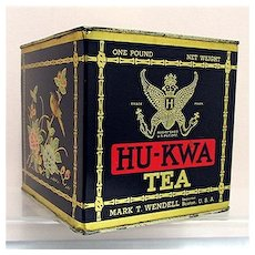 HU-KWA Advertising Tea Tin