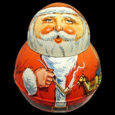Roly Poly Tin SANTA Advertising Tobacco Tin
