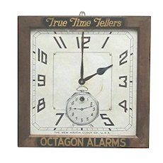 Advertising Wall Clock By The New Haven Clock Co.100% Original