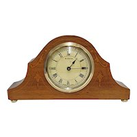 Antique Mantel Clock Inlaid Swiss Mantle Clock, Keeps Time