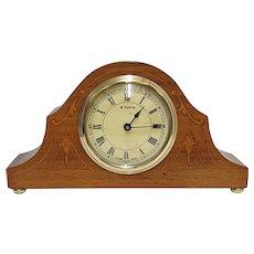 Antique Mantel Clock Inlaid Swiss Mantle Clock, Keeps Time