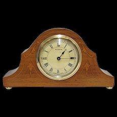 Inlaid Swiss Mantel Clock, Keeps Time