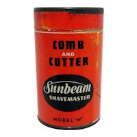 Sunbeam Shavemaster Comb and Cutter Container with Original Contents