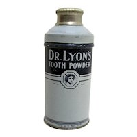Dr. Lyons Cylindrical Tooth Powder Advertising Tin Unopened