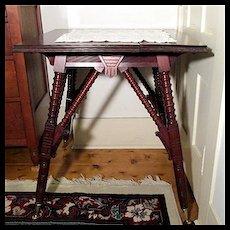 Victorian Center Table in Walnut