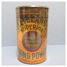 Clevelands Superior Baking Powder Tin