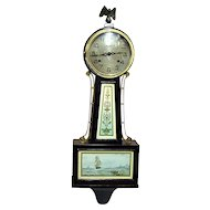 Banjo Clock Restored Antique New Haven Clock 100% Original