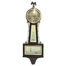 SOLD Nov. 2019 Antique American Banjo Wall Clock Completely Restored 100% Original