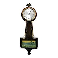 Gilbert Banjo Wall Clock Runs and Keeps Time