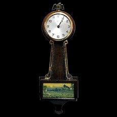 Gilbert Banjo Wall Clock Runs and Keeps Time