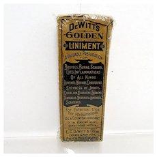 Unopened DeWitts Golden Liniment