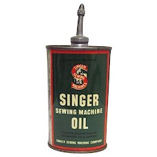 Singer Sewing Machine Oil Can 3 oz.  Made in USA