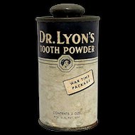 WW II Issue Dr. Lyons Tooth Powder Advertising Tin