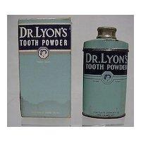Advertising Tin For Dr. Lyons Tooth Powder in Original Box Pharmacy Medical