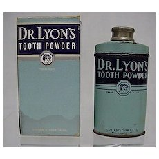 Advertising Tin For Dr. Lyons Tooth Powder in Original Box Pharmacy Medical  LAST ONE