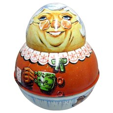 Mrs. Claus Roly Poly Tin