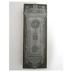 Printers Block Antique  Vienna Regulator  Advertising