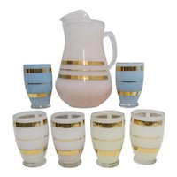 Glass Juice Set PItcher and 6 Glasses