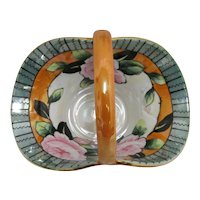 Nippon Porcelain Bon Bon Lusterware Candy Dish Luster Ware Basket